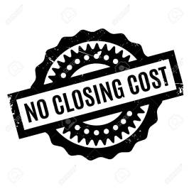 No Closing Cost rubber stamp