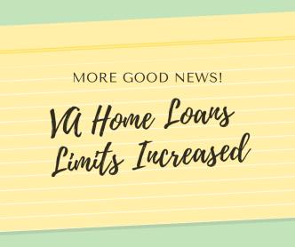 VA Home Loan Limits Increased